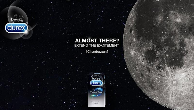 Condom Brand Durex India Tweets 'Extend the Excitement, Almost There' Ad As Chandrayaan 2 Nears Moon (View Pic)