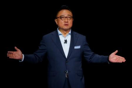 Samsung Electronics President and CEO Dong Jin Koh speaks during the launch event of the Galaxy Note 10 at the Barclays Center in Brooklyn New York
