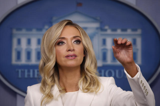 Newly appointed White House press secretary Kayleigh McEnany. (Alex Brandon/AP)