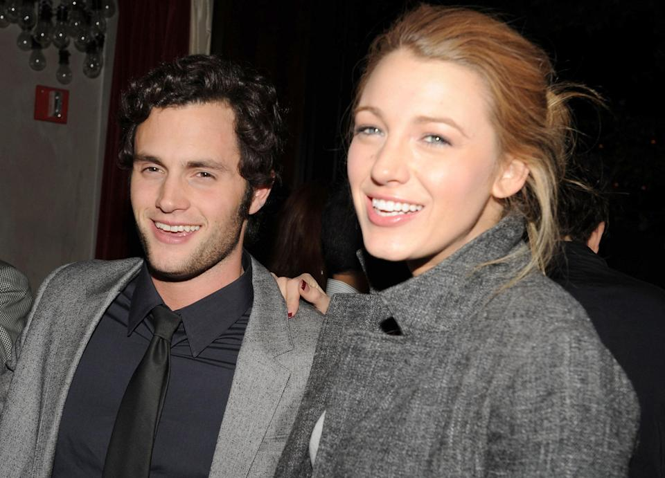 "On <em>Gossip Girl</em>, Lonely Boy and S were star-crossed lovers from the start. An Upper East Side It girl dating a Brooklyn nobody? The horror! But that didn't stop Dan and Serena from dating, and it also didn't stop actors Blake Lively and Penn Badgley from broadcasting their relationship all over New York City in the early aughts. Lively later admitted that the lines got blurry between fiction and reality. ""If [Penn and I] were photographed walking down the street, they didn't know if it was a paparazzi shot or if it was a shot from the show,"" she told <a href=""https://www.vanityfair.com/hollywood/2017/08/gossip-girl-ten-year-anniversary?mbid=synd_yahoo_rss"" rel=""nofollow noopener"" target=""_blank"" data-ylk=""slk:Vanity Fair"" class=""link rapid-noclick-resp""><em>Vanity Fair</em></a> in 2017. XOXO."