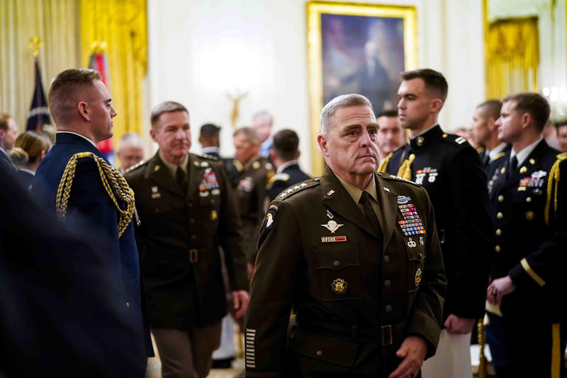 Gen. Mark Milley, chairman of the Joint Chiefs of Staff, at the White House in Washington, Oct. 30, 2019. (Doug Mills/The New York Times)