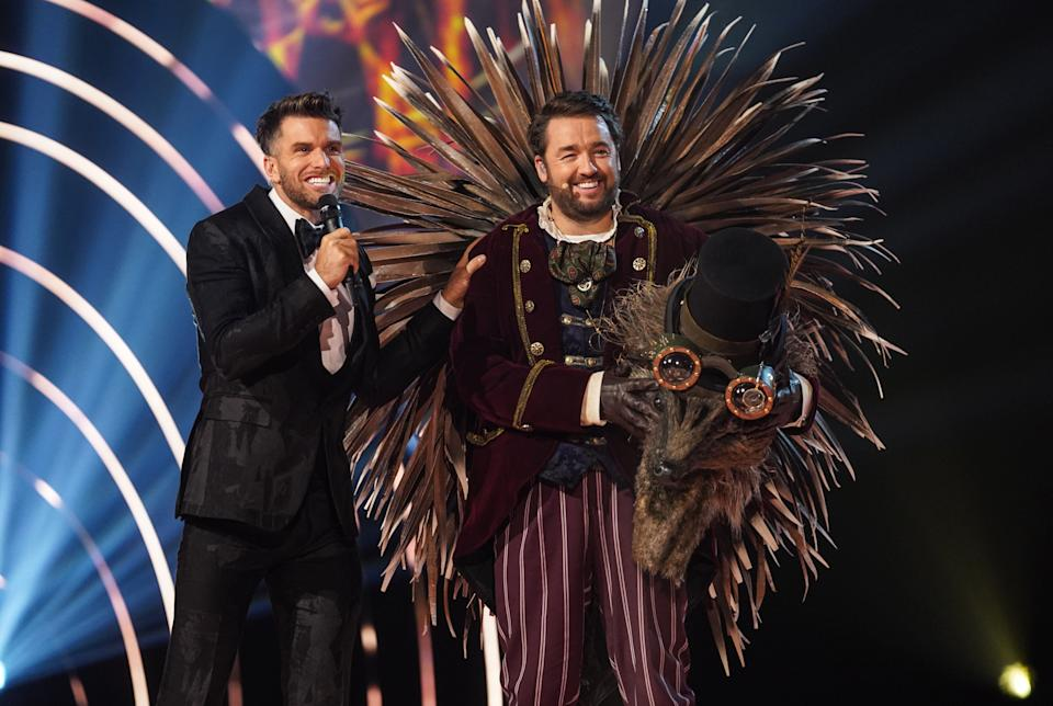 Jason Manford was exposed as Hedgehog on The Masked Singer. (ITV)