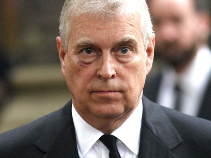 The Duke of York attends the funeral service of Patricia Knatchbull