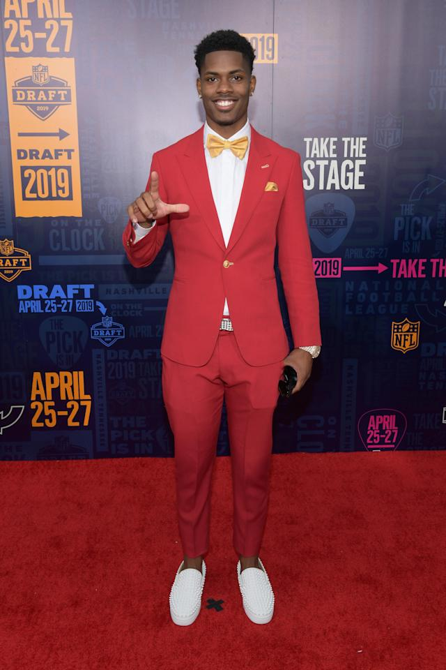 Football player Greedy Williams attends the 2019 NFL Draft on April 25, 2019 in Nashville, Tennessee. (Photo by Jason Kempin/Getty Images)