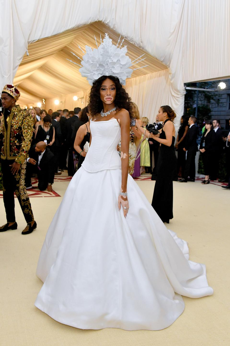 """<h1 class=""""title"""">Winnie Harlow in Tommy Hilfiger</h1><cite class=""""credit"""">Photo: Getty Images</cite>"""