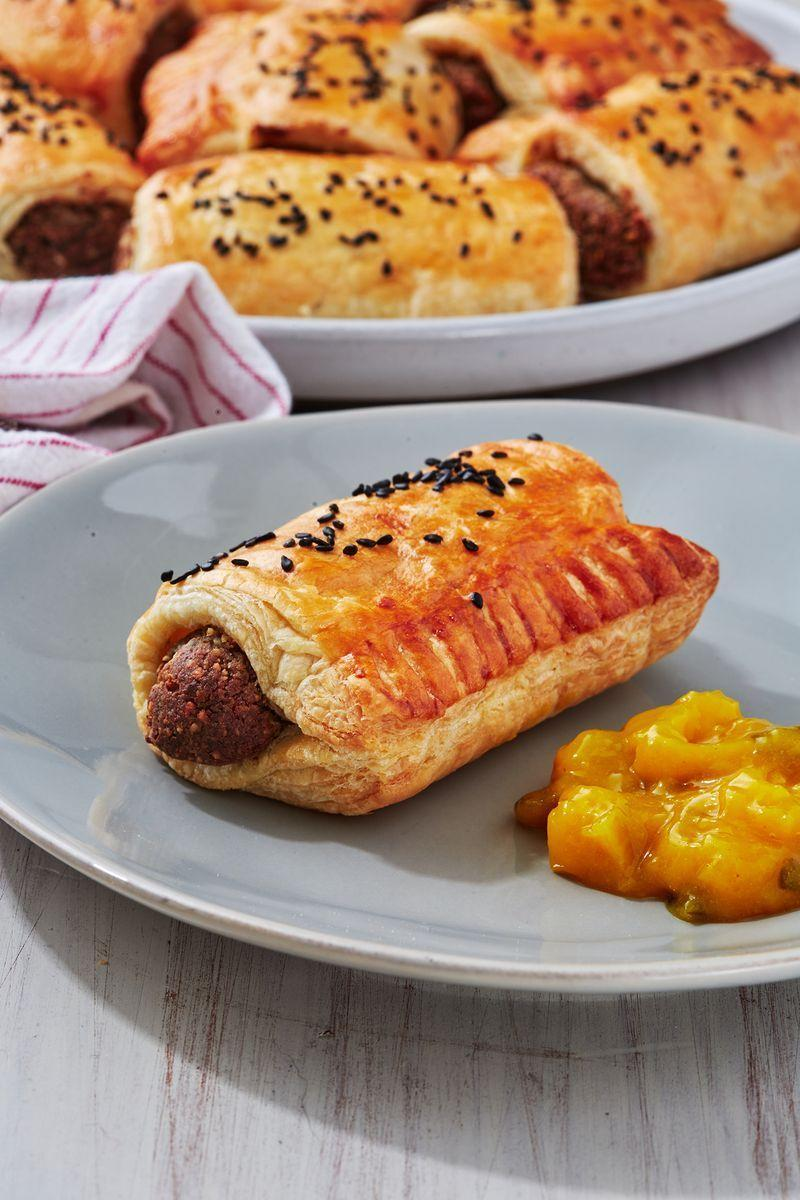 "<p>In homage to our favourite pastry-based food chain.</p><p>Get the <a href=""https://www.delish.com/uk/cooking/recipes/a30268442/vegan-sausage-rolls/"" rel=""nofollow noopener"" target=""_blank"" data-ylk=""slk:Vegan Sausage Roll"" class=""link rapid-noclick-resp"">Vegan Sausage Roll</a> recipe.</p>"