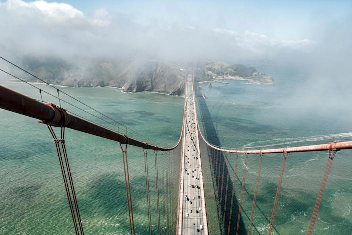 The top of the Golden Gate Bridge by Christopher Michel