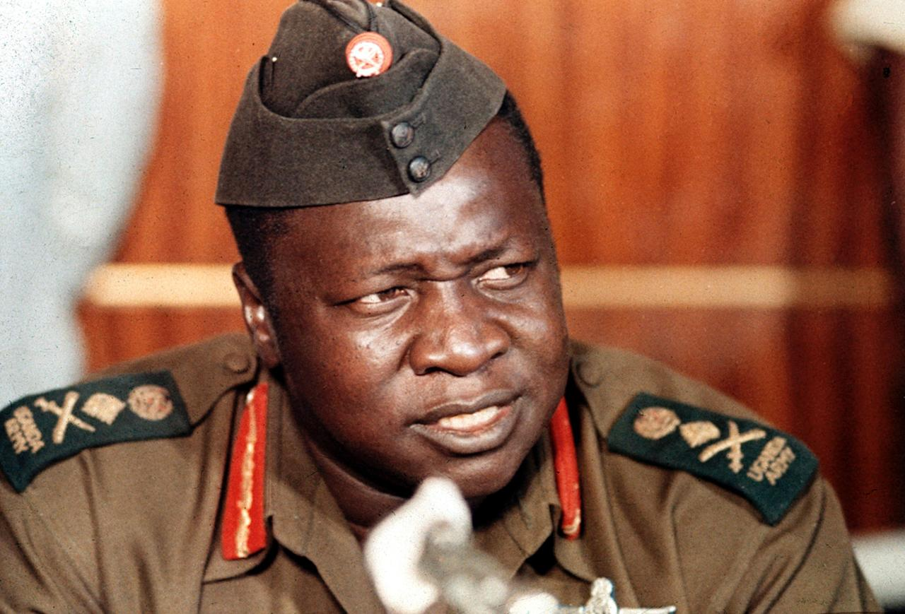 Ugandan President Idi Amin speaks at a news conference during a visit to Damascus, Syria, on Oct. 16, 1973. (AP Photo)