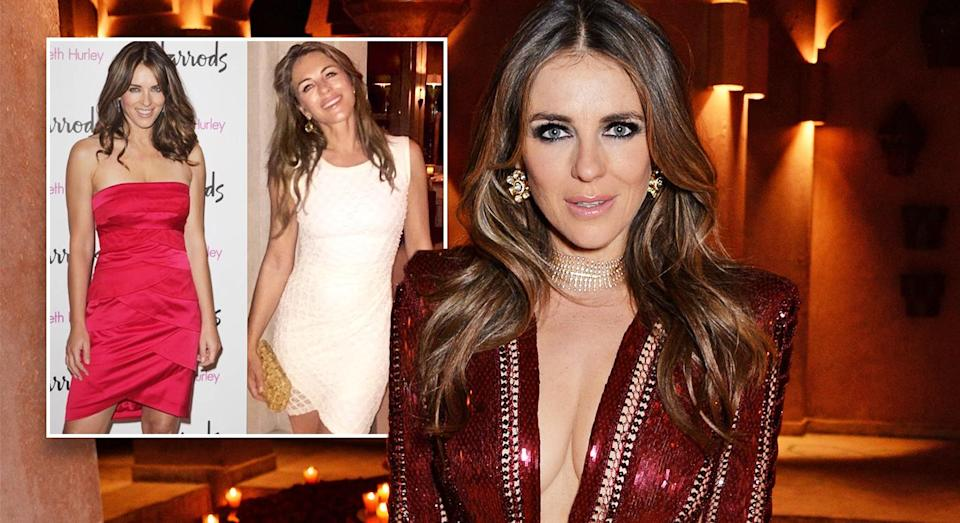 Elizabeth Hurley wowed her Instagram followers with her 10 year challenge post. [Photo: Instagram/Getty]