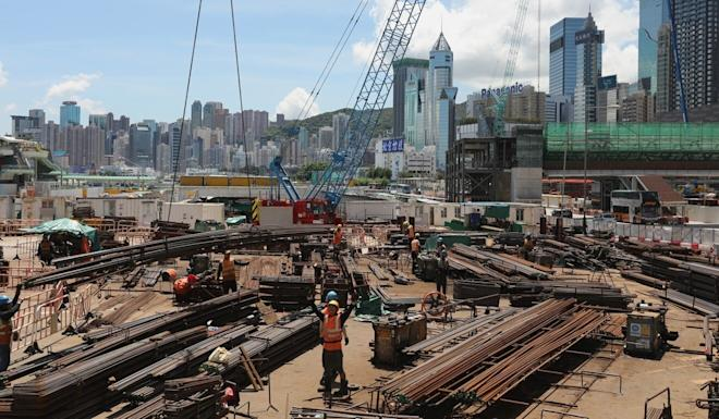 MTR rail works are among coming projects expected to give the flagging construction sector a boost. Photo: Nora Tam