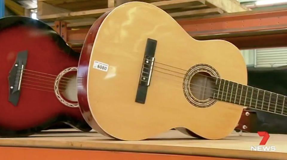 Guitars and ukeleles get left behind. Source: 7 News