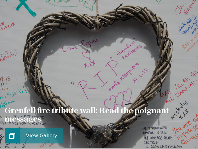 Grenfell fire tribute wall: Read the poignant messages