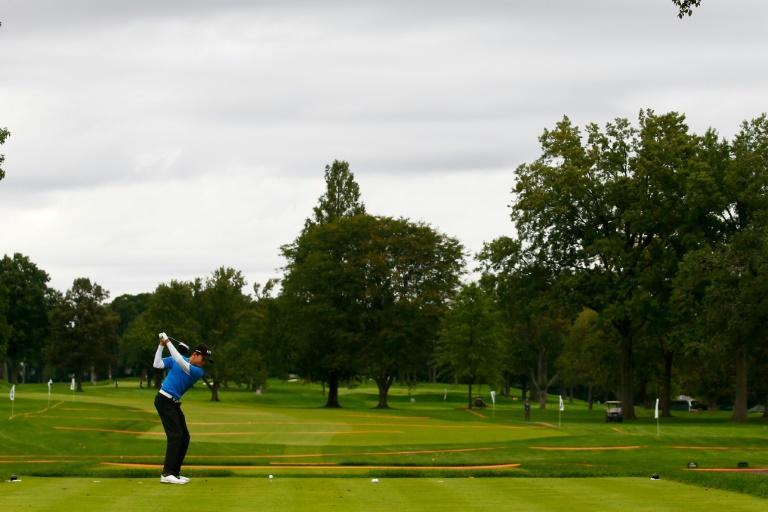 Winged Foot Golf Club, the site of this year's US Open, was closed due to the coronavirus pandemic last week (AFP Photo/Mike Stobe)