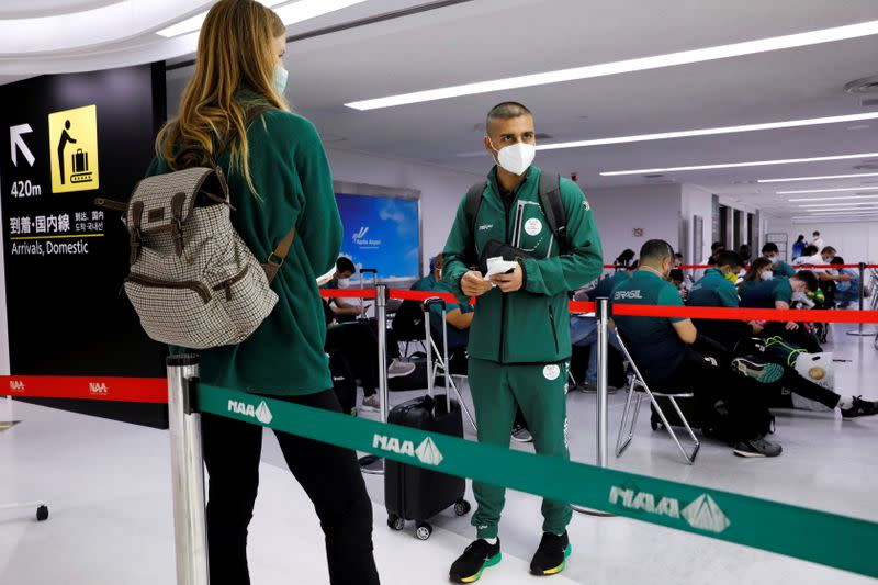FILE PHOTO: South Africa's Olympic team arrives in Japan for Tokyo 2020