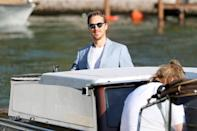 <p>Benedict Cumberbatch arrived on Sept. 2. His film <em>The Power of the Dog </em>got a four-minute standing ovation, though we wish this pale blue jacket moment got one, too! </p>
