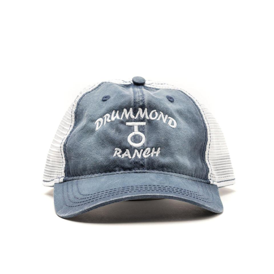 """<p>themercantile.com</p><p><strong>$16.00</strong></p><p><a href=""""https://www.themercantile.com/collections/clothing/products/blue-drummond-ranch-trucker-hat"""" rel=""""nofollow noopener"""" target=""""_blank"""" data-ylk=""""slk:Shop Now"""" class=""""link rapid-noclick-resp"""">Shop Now</a></p><p>Pawhuska vibes for the win! This rugged <a href=""""https://www.thepioneerwoman.com/ree-drummond-life/g33013427/ree-drummond-ranch-photos/"""" rel=""""nofollow noopener"""" target=""""_blank"""" data-ylk=""""slk:&quot;Drummond Ranch&quot;"""" class=""""link rapid-noclick-resp"""">""""Drummond Ranch""""</a> cap is a cool, stylish find for any The Pioneer Woman fan.</p>"""