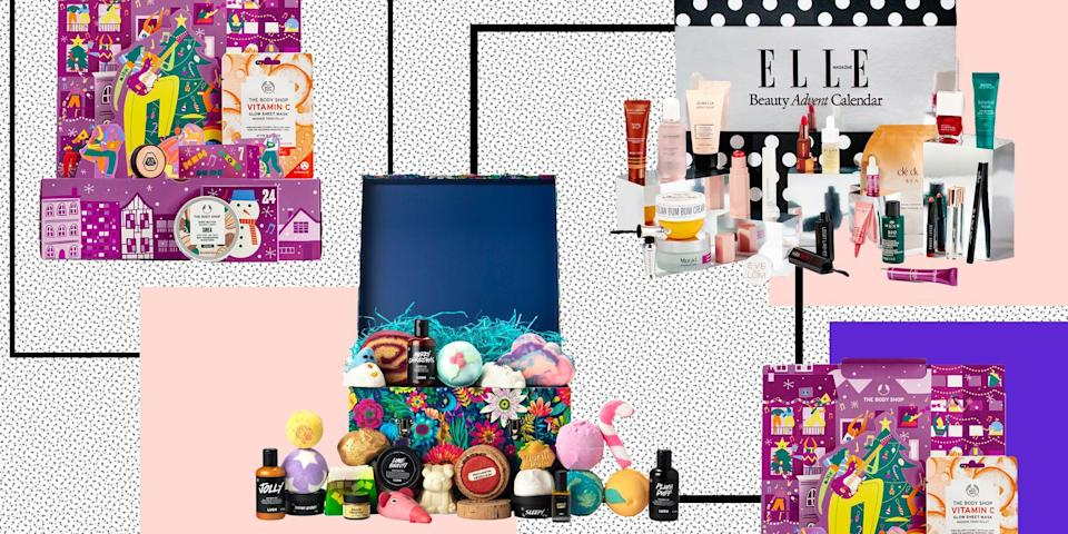 """<p>The inevitable Christmas countdown has begun , and whether you love it or loathe it we can bet you still as excited as us about nabbing a snazzy beauty advent calendar.<br></p><p>Gone are the days when we'd count down to Christmas with a teeny tiny chocolate that'd disappear in a single bite. Now, everything from stunning <a href=""""https://www.elle.com/uk/life-and-culture/articles/g31949/best-scented-candles/"""" rel=""""nofollow noopener"""" target=""""_blank"""" data-ylk=""""slk:scented candles"""" class=""""link rapid-noclick-resp"""">scented candles</a> and wonder-<a href=""""https://www.elle.com/uk/beauty/skin/g8552/best-face-serums-correcting-plumping-hydrating/"""" rel=""""nofollow noopener"""" target=""""_blank"""" data-ylk=""""slk:serums"""" class=""""link rapid-noclick-resp"""">serums</a>, to luxe <a href=""""https://www.elle.com/uk/beauty/body-and-physical-health/news/g32274/best-body-oil/"""" rel=""""nofollow noopener"""" target=""""_blank"""" data-ylk=""""slk:body oils"""" class=""""link rapid-noclick-resp"""">body oils</a> and <a href=""""https://www.elle.com/uk/beauty/articles/g7081/best-winter-perfume/"""" rel=""""nofollow noopener"""" target=""""_blank"""" data-ylk=""""slk:fragrances"""" class=""""link rapid-noclick-resp"""">fragrances</a> that smell so good it's insane are hiding behind those little paper doors - and we are 100% here for them. </p><p>Oh, and did we mention ELLE are launching their seriously luxe <a href=""""https://www.elle.com/uk/beauty/a37338627/elle-beauty-advent-calendar-2021/"""" rel=""""nofollow noopener"""" target=""""_blank"""" data-ylk=""""slk:beauty advent calendar"""" class=""""link rapid-noclick-resp"""">beauty advent calendar</a> for the fourth year in a row? With 25 products <strong>worth over £650 for just £149</strong> it's the only advent calendar you need in your life this season. </p><p><a class=""""link rapid-noclick-resp"""" href=""""https://hearst.emsecure.net/optiext/optiextension.dll?ID=kTPsoh+zvTs+hb8NbV6q7sqGpGsGwlv3eWFtUhc9kdXIEzcTASPJf158MLp2CvllZI9WHC4VdDnHkl"""" rel=""""nofollow noopener"""" target=""""_blank"""" data-ylk=""""slk:SIGN UP TO GET THE ELLE BEAUTY ADVENT CAL"""
