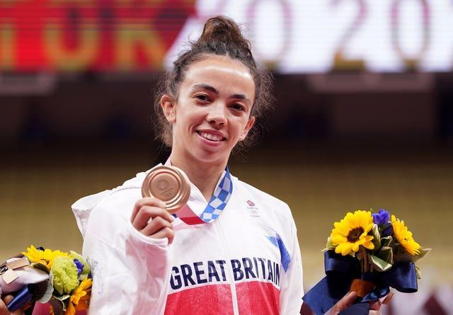 TChelsie Giles celebrates after claiming Great Britain's first medal of the Games
