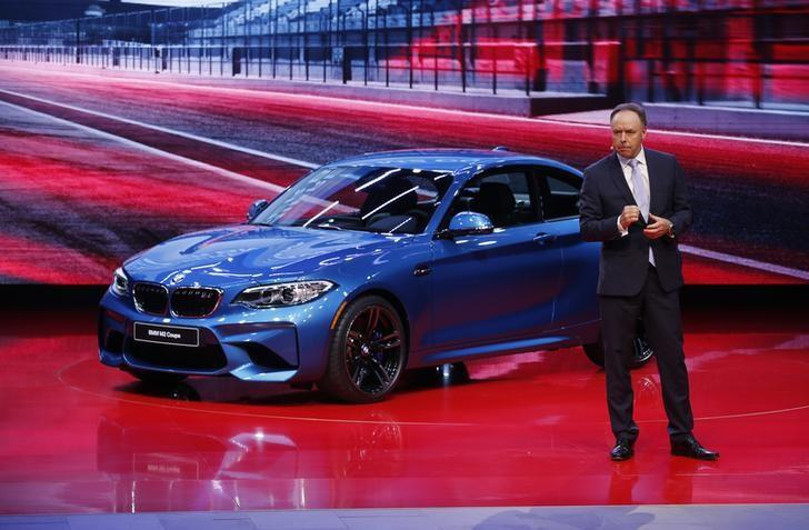BMW's Robertson introduces the 2016 BMW M2 Coupe at the North American International Auto Show in Detroit