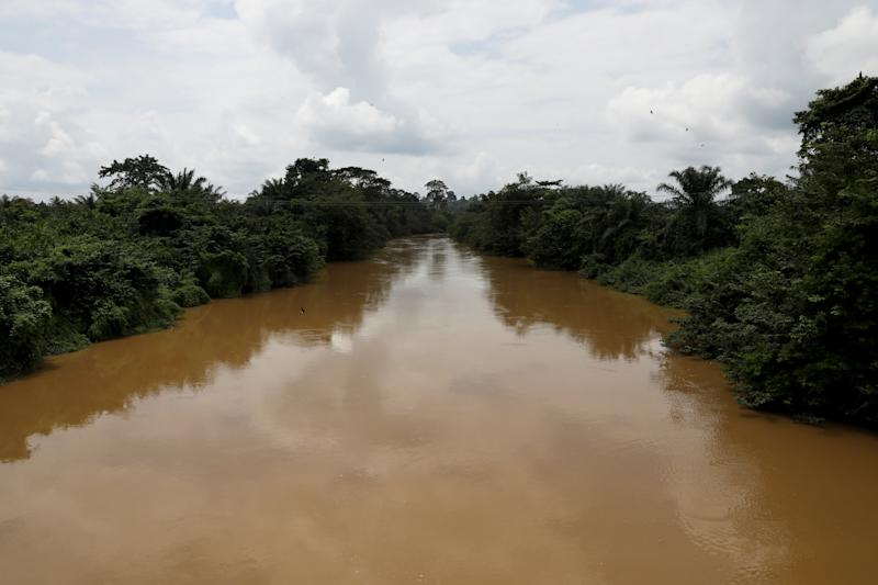 The river Pra, which runs parallel to the Assin Praso heritage village, Ghana. (Photo: Siphiwe Sibeko/Reuters)