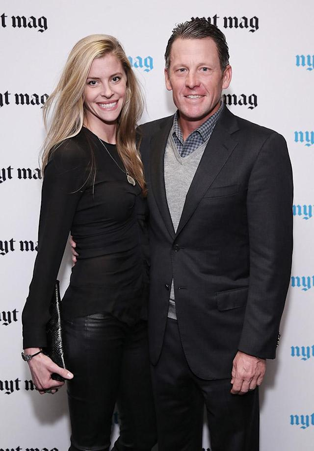 Lance Armstrong and Anna Hansen, pictured in 2015, are engaged. (Photo: Neilson Barnard/Getty Images)
