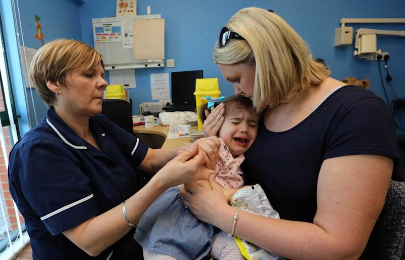 Parents are being urged to take up the offer of MMR vaccinations for their children (Rex)