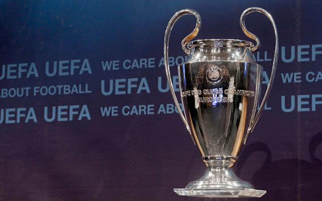 <span>The Champions League trophy will be up grabs in this year's Cardiff final </span> <span>Credit: Reuters  </span>