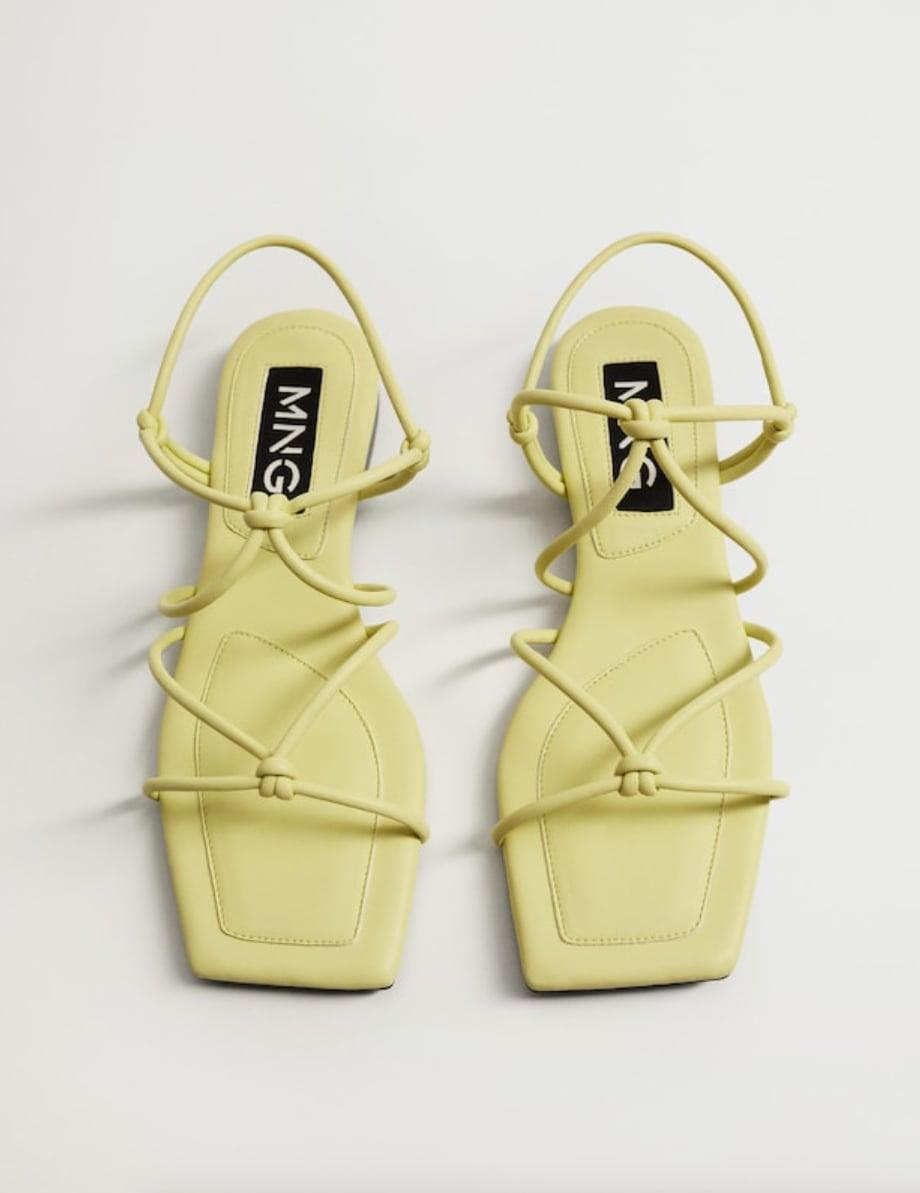 <p>These <span>Mango Straps Knots Sandals</span> ($40) are easy to slip on and you'll feel supported on your daily errands.</p>