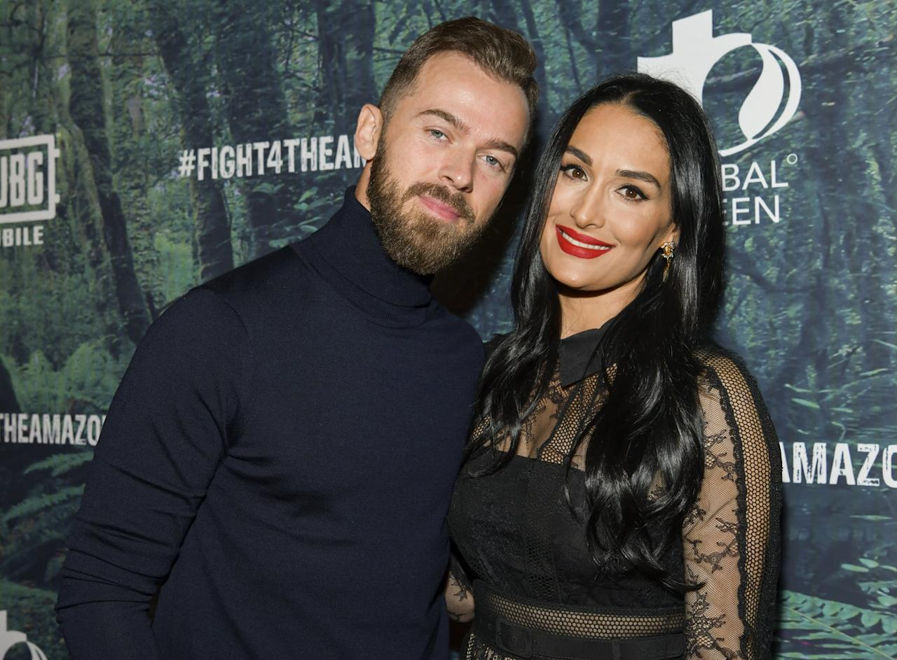 "<p>Nikki and Artem rang in 2020 by <a href=""https://people.com/tv/nikki-bella-artem-chigvintsev-engaged/"" target=""_blank"" class=""ga-track"" data-ga-category=""Related"" data-ga-label=""https://people.com/tv/nikki-bella-artem-chigvintsev-engaged/"" data-ga-action=""In-Line Links"">announcing their engagement on Instagram</a>. ""I said yes in France in November!"" the <strong>Total Bellas</strong> star captioned a <a href=""https://www.instagram.com/p/B63uTAMlkfG/?utm_source=ig_web_copy_link"" target=""_blank"" class=""ga-track"" data-ga-category=""Related"" data-ga-label=""https://www.instagram.com/p/B63uTAMlkfG/?utm_source=ig_web_copy_link"" data-ga-action=""In-Line Links"">photo of her and Artem kissing</a>. ""We have been trying to keep it a secret but really wanted to share our excitement for the New Year!"" The good news comes after <a href=""https://www.instagram.com/p/B63uTJEgVyp/?utm_source=ig_web_copy_link"" target=""_blank"" class=""ga-track"" data-ga-category=""Related"" data-ga-label=""https://www.instagram.com/p/B63uTJEgVyp/?utm_source=ig_web_copy_link"" data-ga-action=""In-Line Links"">she and the <strong>Dancing With the Stars</strong> alum</a> reconnected following <a href=""https://www.popsugar.com/celebrity/Did-Nikki-Bella-John-Cena-Break-Up-45119279"" class=""ga-track"" data-ga-category=""Related"" data-ga-label=""https://www.popsugar.com/celebrity/Did-Nikki-Bella-John-Cena-Break-Up-45119279"" data-ga-action=""In-Line Links"">Nikki's 2018 split from John Cena</a>.</p>"