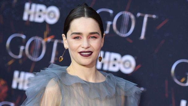 PHOTO: British actress Emilia Clarke arrives for the 'Game of Thrones' eighth and final season premiere at Radio City Music Hall in New York, April 3, 2019. (AFP via Getty Images, FILE)