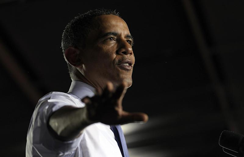 President Barack Obama speaks at the Jacksonville Port in Jacksonville, Fla., Thursday, July 25, 2013. A day after he kicked off the tour in Illinois and Missouri, Obama was traveling Thursday to a seaport in Jacksonville, Fla., to yet again deride the wide gulf between his vision for a new American prosperity driven by a burgeoning middle class and the intense gridlock snarling up Congress. (AP Photo/Susan Walsh)