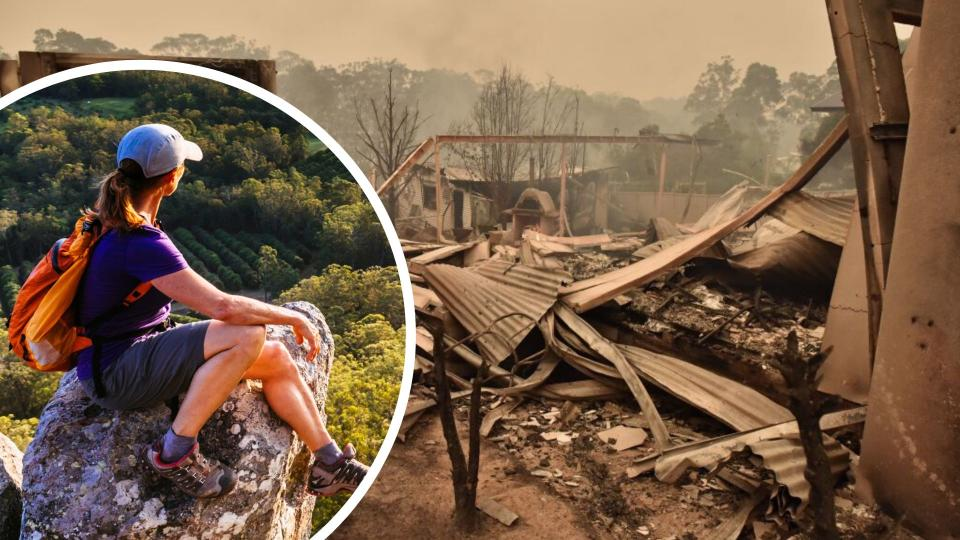 Forget fruit picking, tourists on working holiday visas will be able to help rebuild homes destroyed by bushfires. Images: Getty