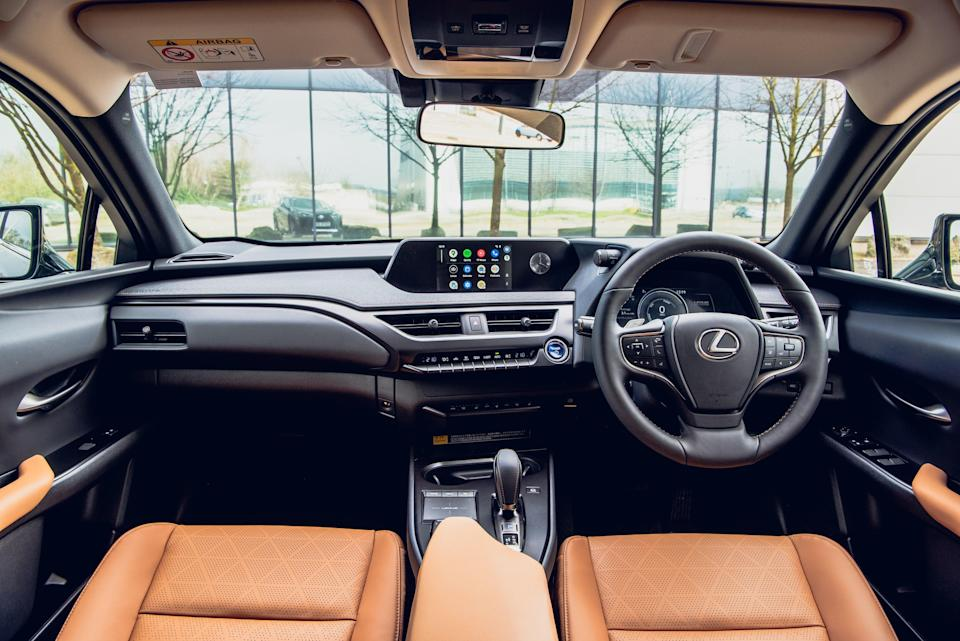 The touch pad between the front seats that can control the screen takes some getting used to (Lexus)