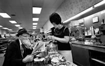<p>The '60s diner culture was centered around the counter. And whether it was lunchtime or not, people flocked to it for a cup of coffee and the newspaper or a sandwich and a soda.</p>