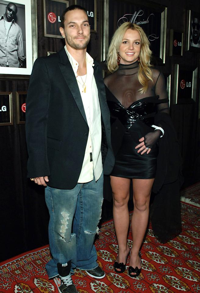 Kevin Federline and Britney Spears during Mariah Carey and Jermaine Dupri Host GRAMMY After Party Sponsored by LG at Private Home in Hollywood, Califormia, United States. (Photo by J.Sciulli/WireImage for Ogilvy Public Relations)