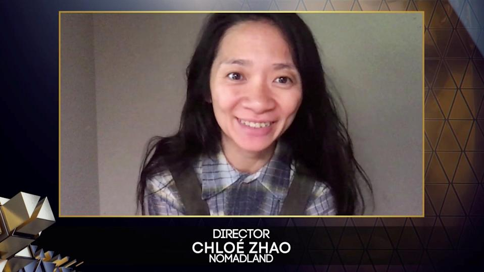 Nomadland's Chloe Zhao was the first woman of colour and only the second in history to win best directorvia REUTERS