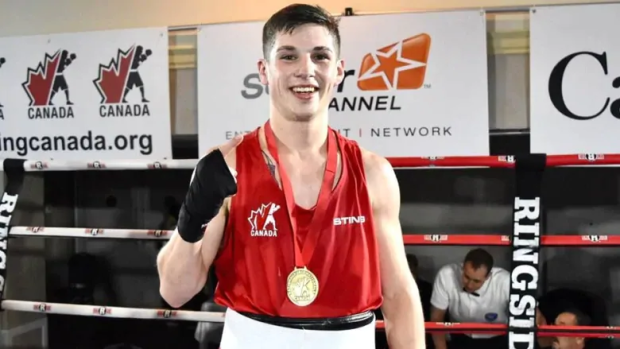 Wyatt Sanford of Kennetcook has learned he will represent Canada at the summer Olympics in Tokyo. (Boxing Canada - image credit)