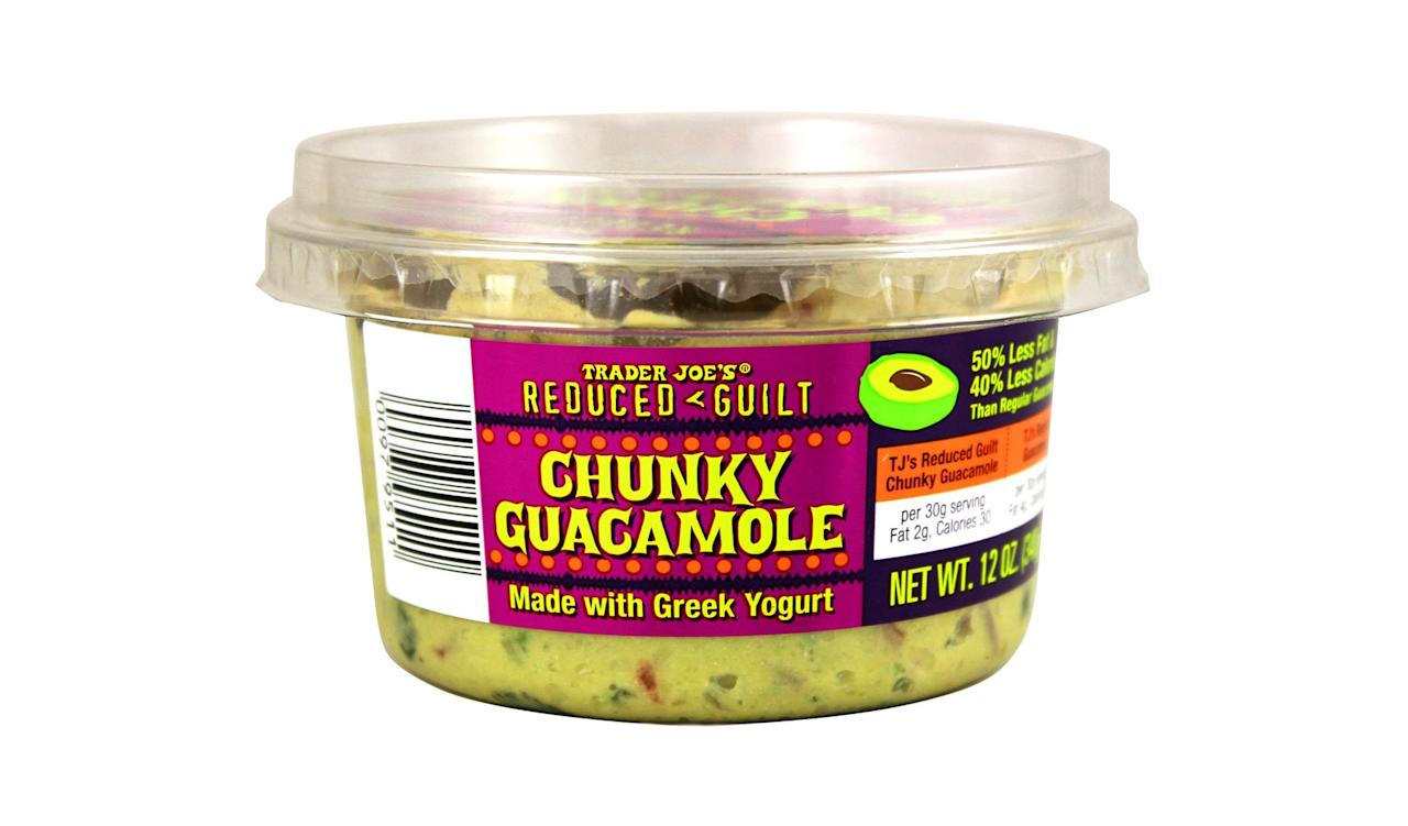 "<p>""It may be lower in fat and calories than regular guac, but I actually buy it because it's delicious. The addition of Greek yogurt adds just a tiny bit of tang, which tastes great on tacos or scooped onto tortilla chips. I've been known to eat the whole thing in one sitting, but the leftovers keep for a few days, especially when I use this <a href=""https://www.realsimple.com/food-recipes/shopping-storing/food/how-to-keep-guacamole-from-turning-brown"" title=""https://www.realsimple.com/food-recipes/shopping-storing/food/how-to-keep-guacamole-from-turning-brown"">trick for storing guacamole.</a>""<em>—Jennifer Davidson, Deputy Digital Editor</em></p>"