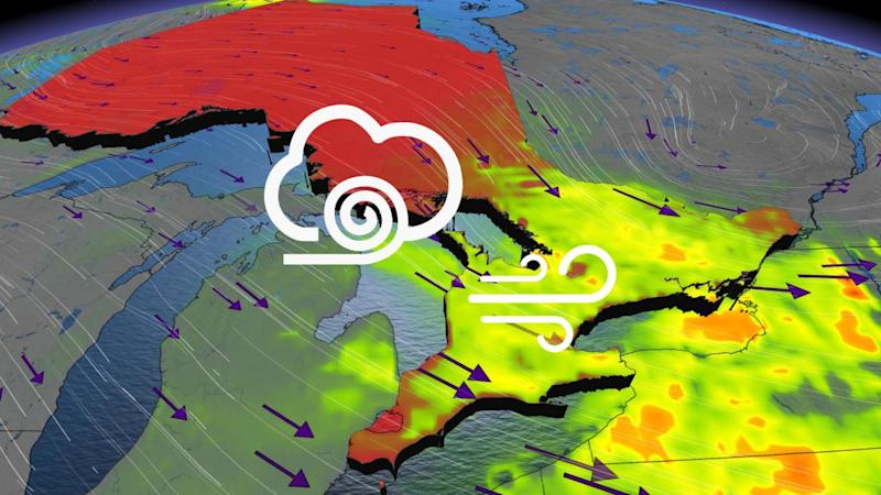 Strong 60-80 km/h winds follow showers in Ontario