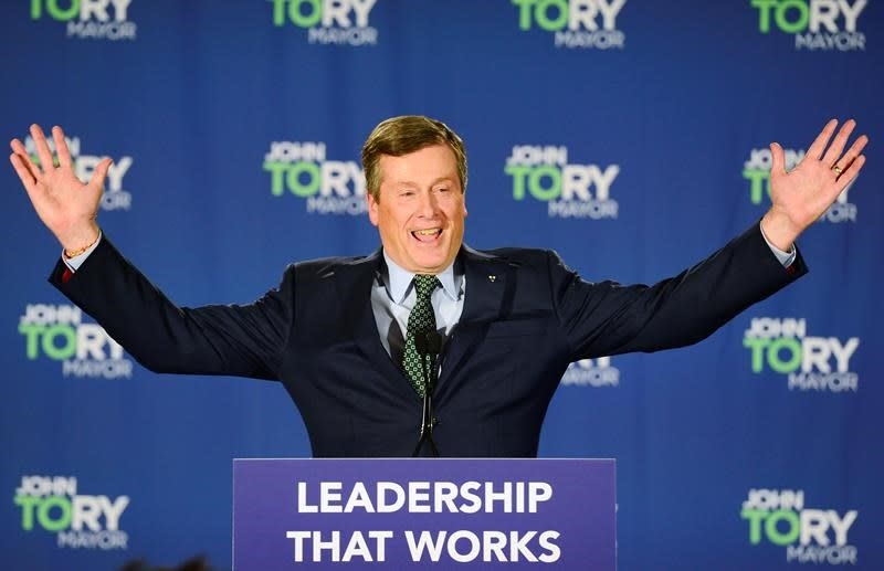 Toronto Mayor John Tory cruises to victory; tech issues extend voting elsewhere