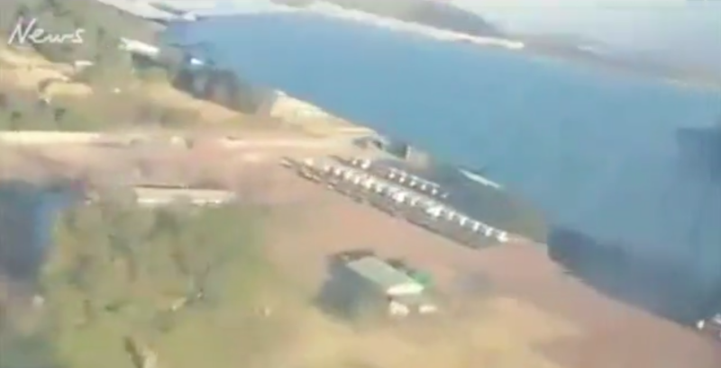 Shocking footage captures terrifying moment plane crashes killing two on board