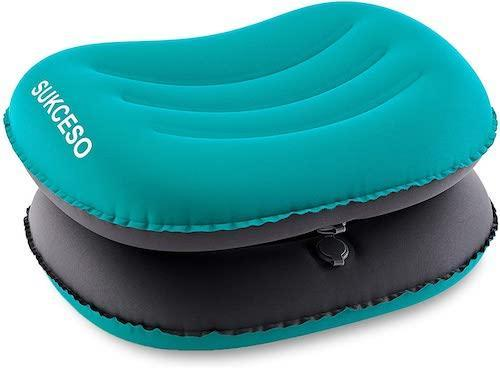 SUKCESO 2-Pack Inflatable Camping Pillow