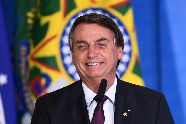 A leading critic of Brazilian President Jair Bolsonaro, the online influencer Felipe Neto, said he was the victim of a smear campaign; image of Bolsonaro in Brasilia, on November 4, 2020