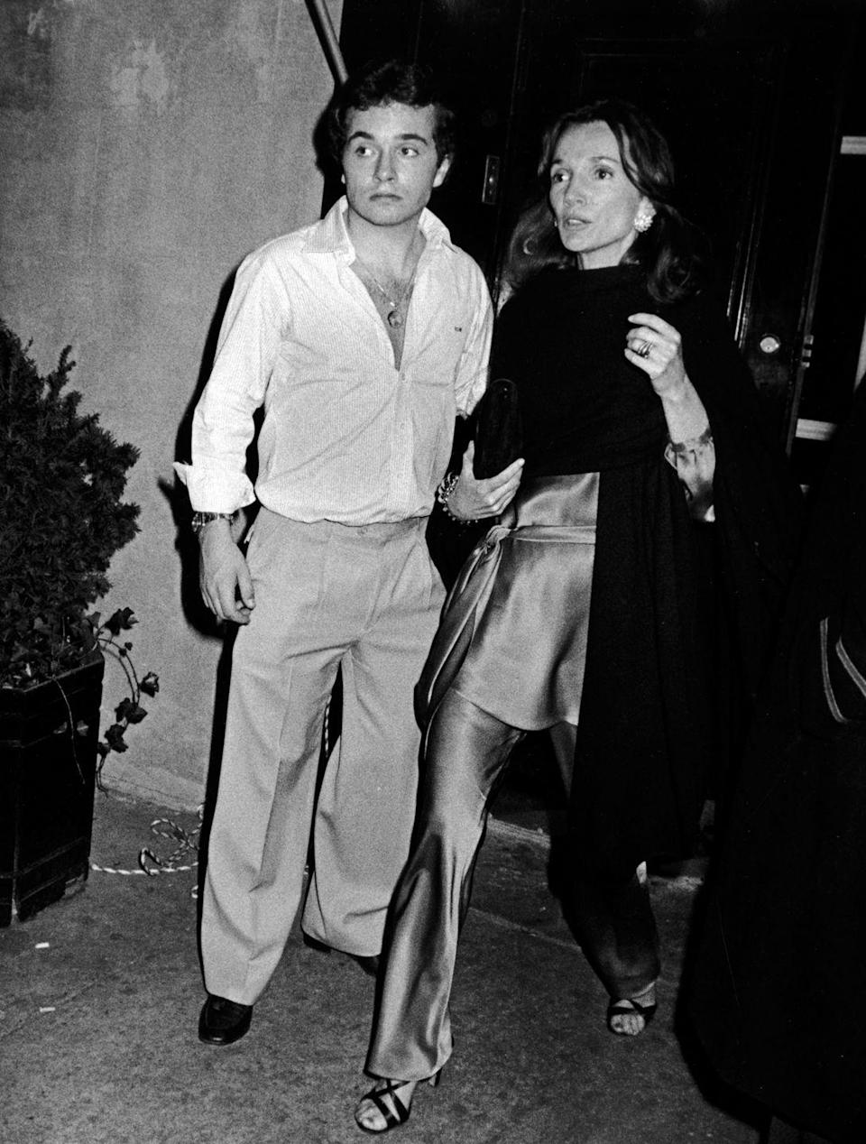 <p>Lee Radziwill and her son, Anthony, arrive at Le Club in New York City for the birthday party of John F. Kennedy Jr. and Caroline Kennedy in 1978. </p>