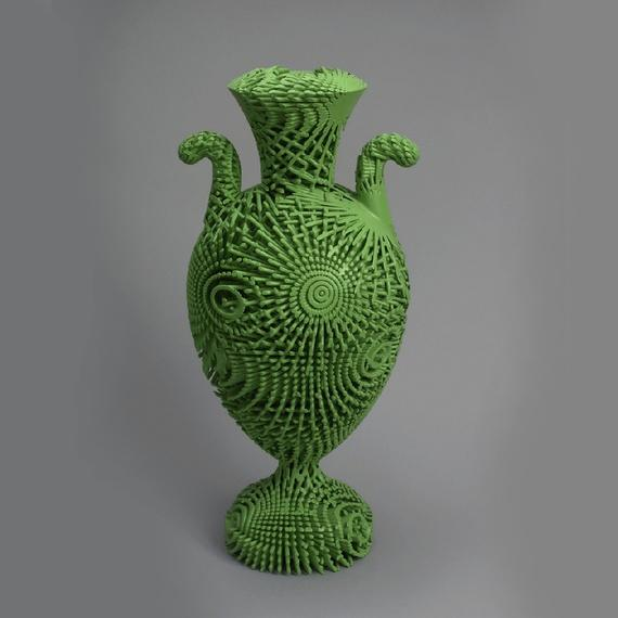<em>Tall Green Bloom, </em>a 3-D printed urn which joined the museum's collection in 2013 (Cooper Hewitt)