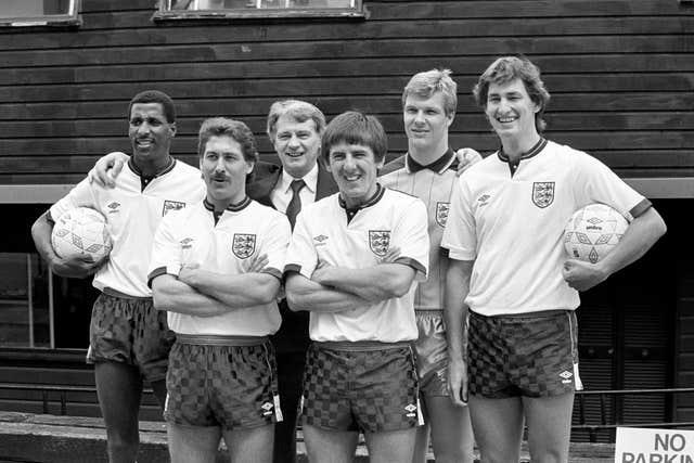 Viv Anderson, left, travelled to four major tournaments with England, including Euro 88
