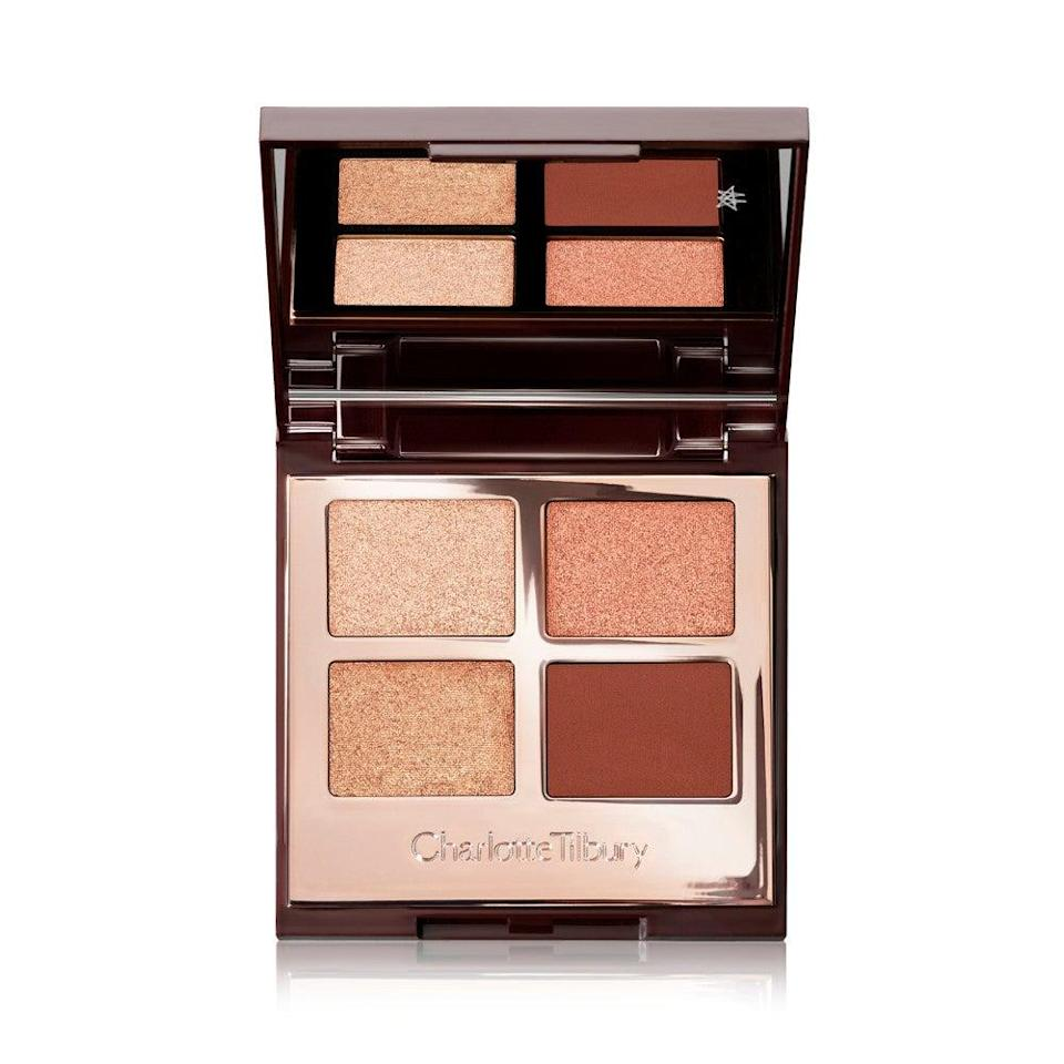 "<h2>Charlotte Tilbury Copper Charge Luxury Eyeshadow Palettes</h2><br>""I'm a sucker for a tiny eyeshadow palette that doesn't weigh down my purse, but still delivers on pigment. This luxe compact from Charlotte Tilbury makes it easy to pop on some color without much guesswork and fussing with brushes."" — Simeon<br><br><br><strong>Charlotte Tilbury</strong> Nude Eyeshadow Palettes, $, available at <a href=""https://go.skimresources.com/?id=30283X879131&url=https%3A%2F%2Fwww.sephora.com%2Fshop%2Feyeshadow-palettes%3Fref%3D100016"" rel=""nofollow noopener"" target=""_blank"" data-ylk=""slk:Sephora"" class=""link rapid-noclick-resp"">Sephora</a>"
