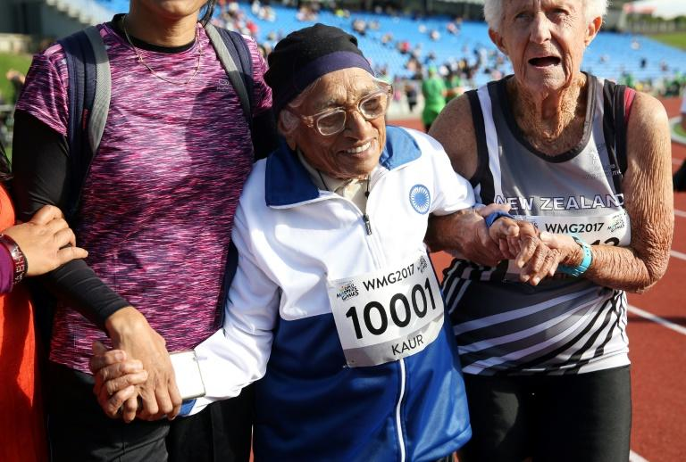 Man Kaur, 101, is among 25,000 athletes competing in the World Masters Games in New Zealand