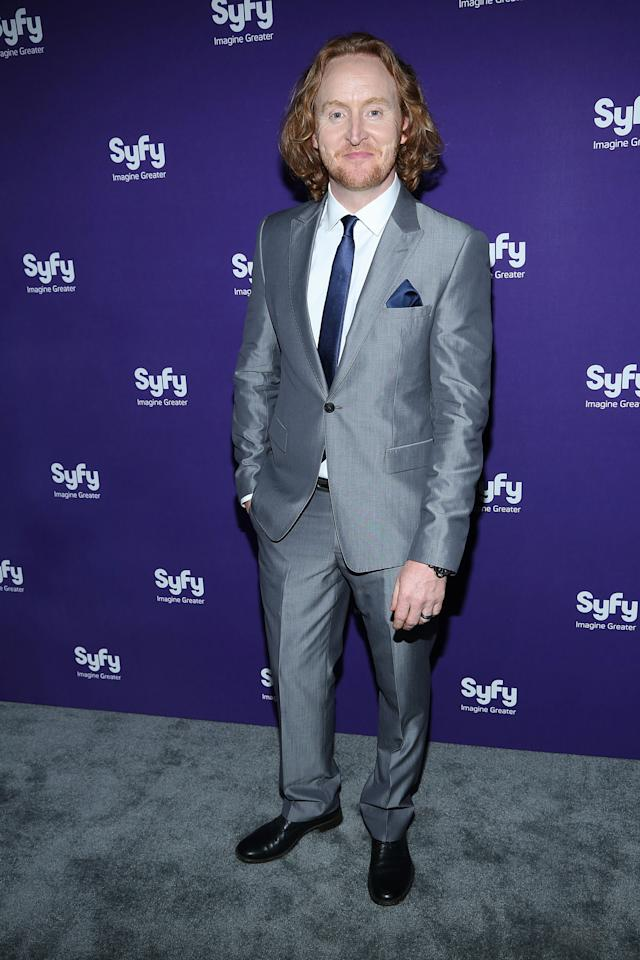 "NEW YORK, NY - APRIL 10:  Tony Curran of ""Defiance"" attends Syfy 2013 Upfront at Silver Screen Studios at Chelsea Piers on April 10, 2013 in New York City.  (Photo by Rob Kim/Getty Images)"