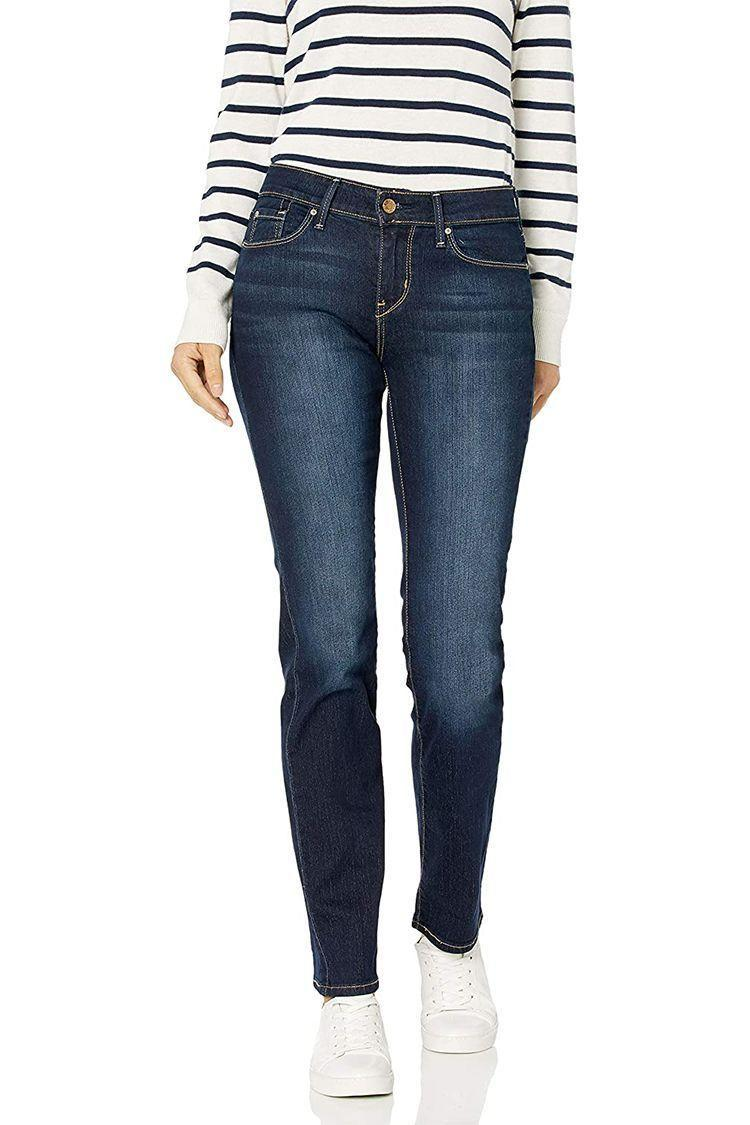 """<p><strong>Signature by Levi Strauss & Co. Gold Label</strong></p><p>amazon.com</p><p><a href=""""https://www.amazon.com/dp/B07FK27NRC?tag=syn-yahoo-20&ascsubtag=%5Bartid%7C2089.g.36397245%5Bsrc%7Cyahoo-us"""" rel=""""nofollow noopener"""" target=""""_blank"""" data-ylk=""""slk:Shop Now"""" class=""""link rapid-noclick-resp"""">Shop Now</a></p><p><strong><em>From $17.31</em></strong><br></p><p>A classic straight-fit jean is all you need to get by. These jeans from Levi's bargain-friendly Signature label have a midrise waist and a comfortable, super-stretch feel that hugs all of your curves the right way.</p>"""